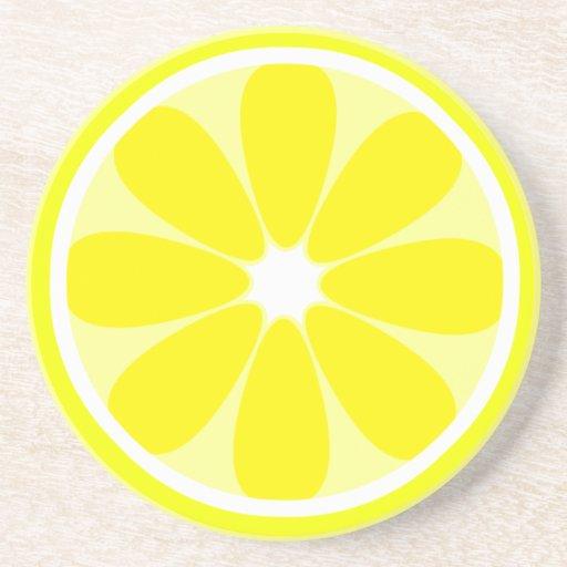 Práctico de costa de la rebanada del limón posavasos para bebidas