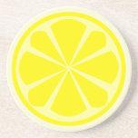 Práctico de costa de la rebanada del limón posavasos manualidades