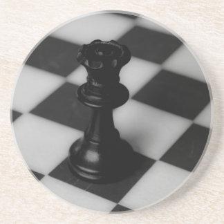 Práctico de costa de la reina del ajedrez posavasos para bebidas