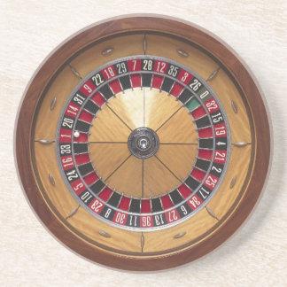Práctico de costa de la rueda de ruleta posavasos personalizados