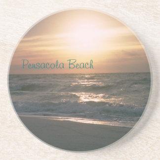 Práctico de costa de la salida del sol de la playa posavasos manualidades