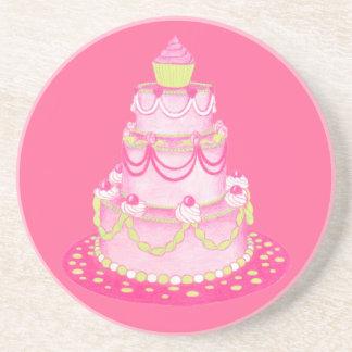 Práctico de costa de la torta de 3 gradas posavasos personalizados