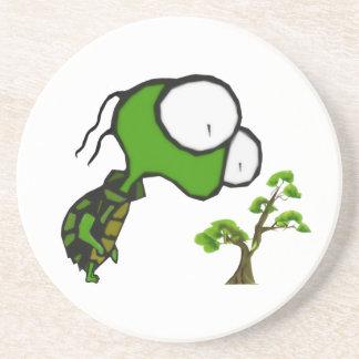 Práctico de costa de la tortuga de los bonsais posavaso para bebida
