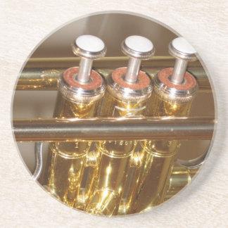 Práctico de costa de la trompeta posavasos diseño