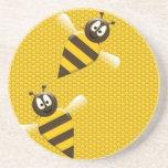 Práctico de costa de las abejas posavasos para bebidas