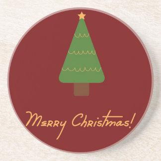 Práctico de costa de las Felices Navidad Posavasos Personalizados