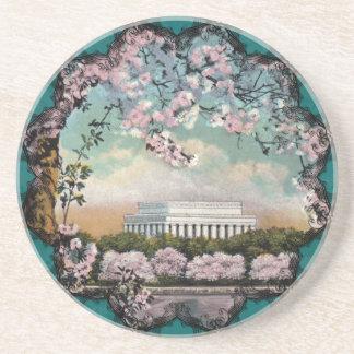 Práctico de costa de las flores de cerezo posavasos de arenisca