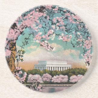 Práctico de costa de las flores de cerezo posavasos personalizados