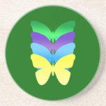Práctico de costa de las mariposas del arco iris posavasos manualidades