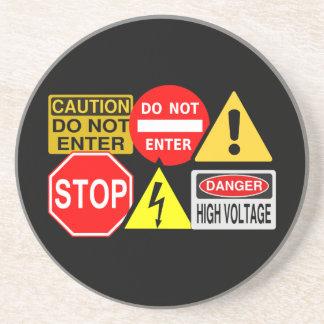 Práctico de costa de las señales de tráfico posavasos manualidades