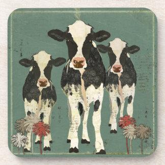 Práctico de costa de las vacas del ónix y de la ma posavasos de bebidas