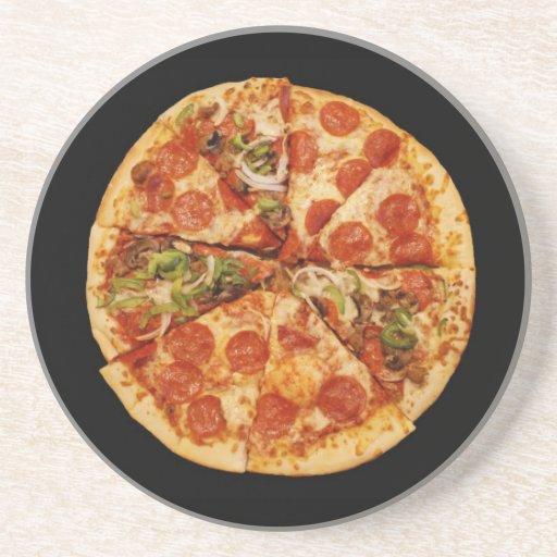 Práctico de costa de los amantes de la pizza posavasos para bebidas