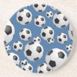 Práctico de costa de los balones de fútbol del fút posavasos personalizados