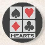 Práctico de costa de los corazones posavasos diseño