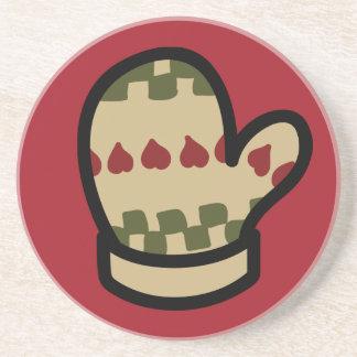 Práctico de costa de los iconos del día de fiesta  posavasos diseño