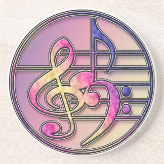 Práctico de costa de los símbolos de música posavasos diseño