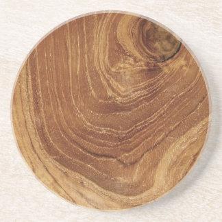 práctico de costa de madera del personalizado de l posavasos para bebidas