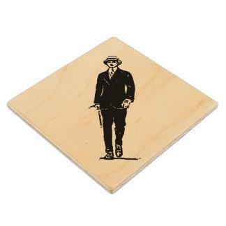 Práctico de costa de madera del viejo caballero de posavasos de arce