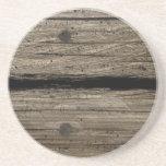 Práctico de costa de madera rústico de la piedra a posavasos manualidades