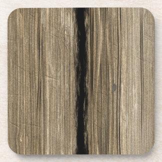 Práctico de costa de madera rústico del corcho del apoyavasos