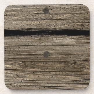 Práctico de costa de madera rústico del corcho del posavaso