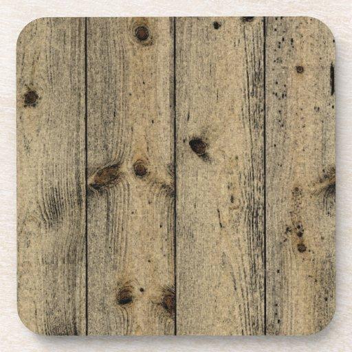 Práctico de costa de madera sucio del corcho posavaso