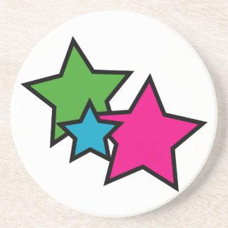 Práctico de costa de neón de la estrella posavasos diseño