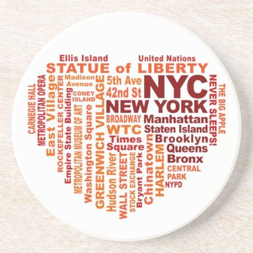 Práctico de costa de NYC Posavasos Para Bebidas