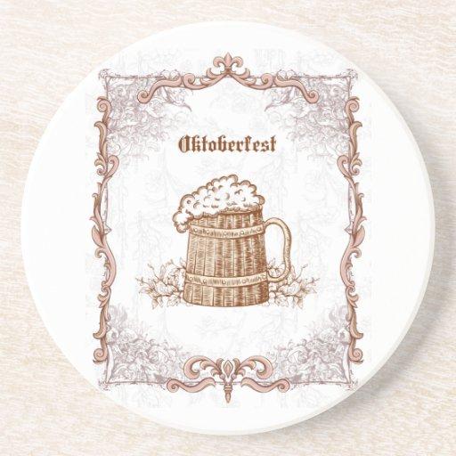 Práctico de costa de Oktoberfest del vintage Posavasos Personalizados