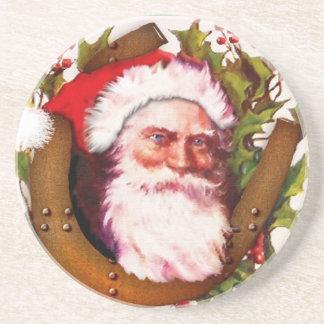Práctico de costa de Papá Noel del navidad del pad Posavasos Cerveza