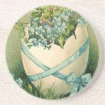 Práctico de costa de Pascua del vintage Posavasos Personalizados