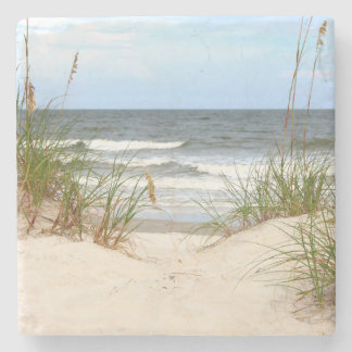Práctico de costa de piedra de la playa posavasos de piedra