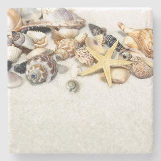 Práctico de costa de piedra de los Seashells Posavasos De Piedra