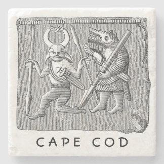 Práctico de costa de piedra único de Cape Cod Posavasos De Piedra