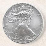 Práctico de costa de plata de Eagle Posavasos Manualidades