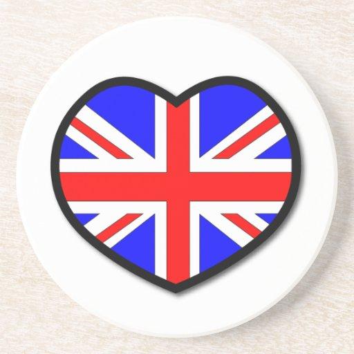 Práctico de costa de Reino Unido del corazón Posavasos Manualidades