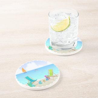 Práctico de costa de relajación de la bebida de la posavaso para bebida