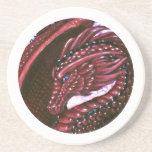 Práctico de costa de rubíes del dragón posavasos diseño