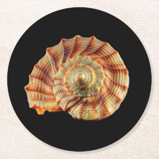 Práctico de costa de Shell Posavasos Personalizable Redondo