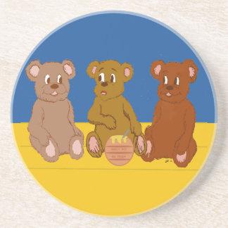 Práctico de costa de tres osos posavasos manualidades