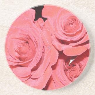 Práctico de costa de tres rosas posavasos para bebidas