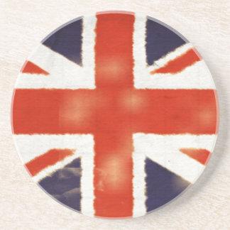 Práctico de costa de Union Jack del vintage Posavasos Personalizados