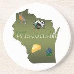 Práctico de costa de Wisconsin Posavasos Manualidades