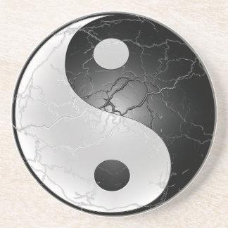 Práctico de costa de Yin Yang Posavasos Personalizados