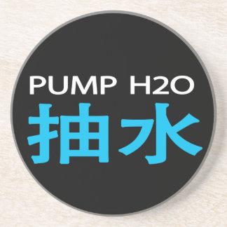 Práctico de costa del 抽水 de la bomba H2O (oscuro) Posavasos Cerveza
