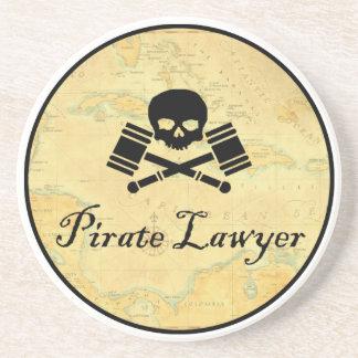 Práctico de costa del abogado del pirata posavasos manualidades