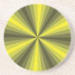 Práctico de costa del amarillo de la ilusión óptic posavasos personalizados