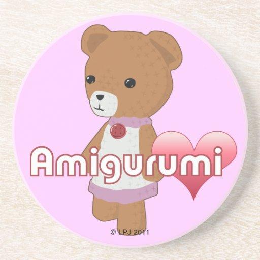 Práctico de costa del amor de Amigurumi Posavasos Diseño