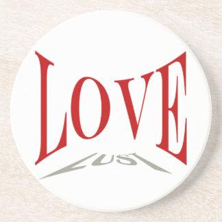 Práctico de costa del amor o de la lujuria posavasos de arenisca