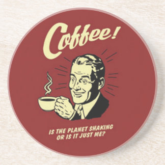 Práctico de costa del anuncio del café del vintage posavasos de arenisca
